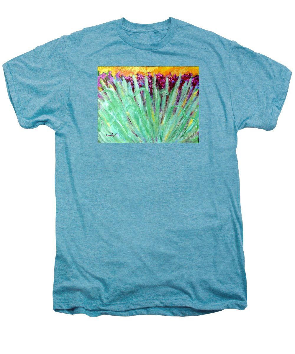 Abstract Men's Premium T-Shirt featuring the painting Festoon by Laurie Morgan
