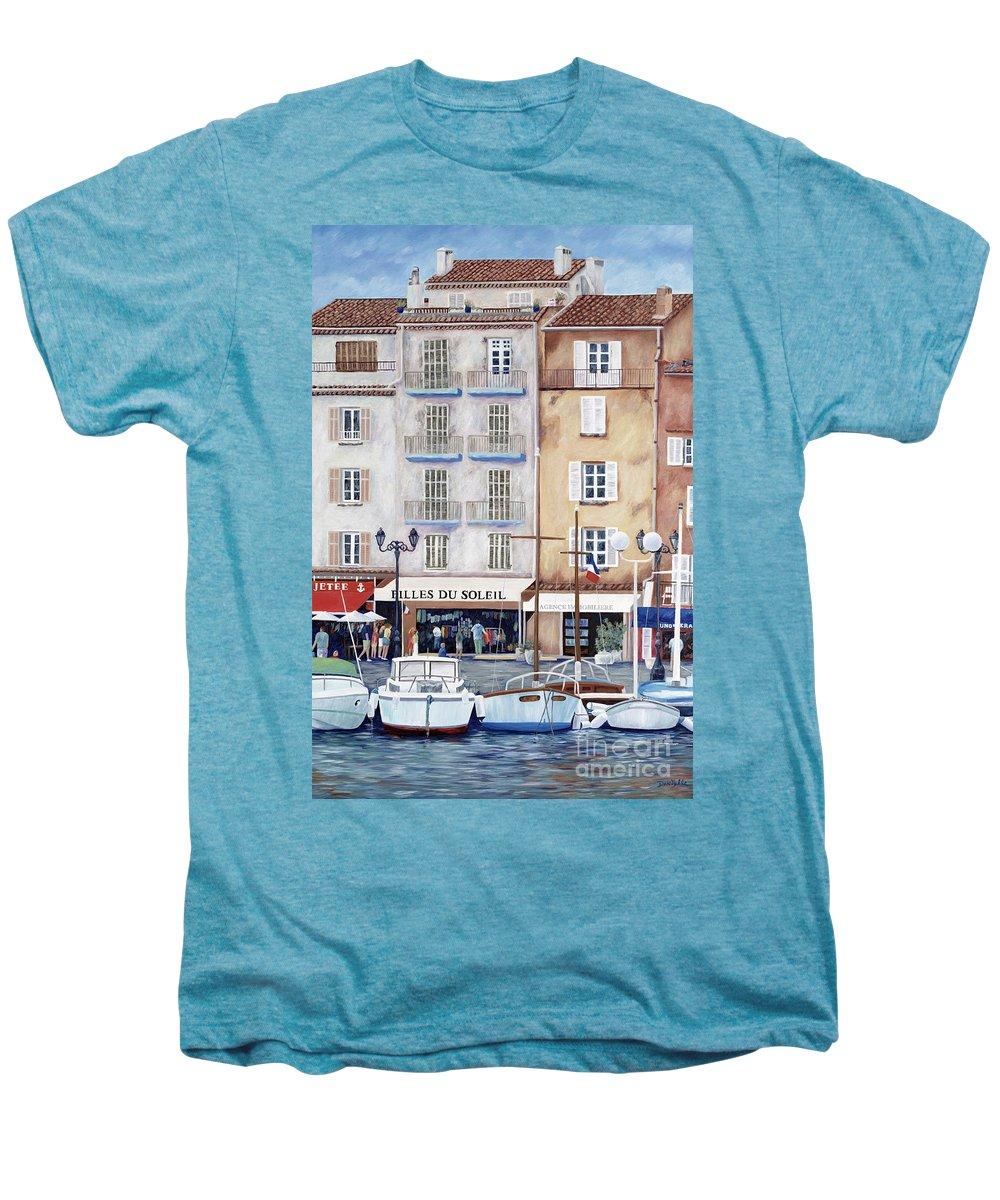 St. Tropez Men's Premium T-Shirt featuring the painting Filles Du Soleil by Danielle Perry