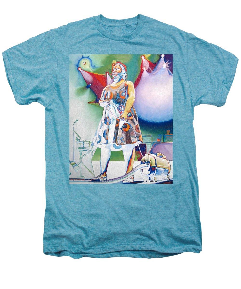 Phish Men's Premium T-Shirt featuring the drawing Fishman And Vaccum by Joshua Morton