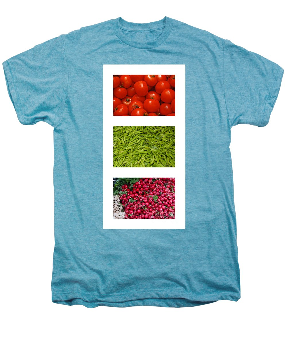 Tomato Men's Premium T-Shirt featuring the photograph Fresh Vegetable Triptych by Thomas Marchessault