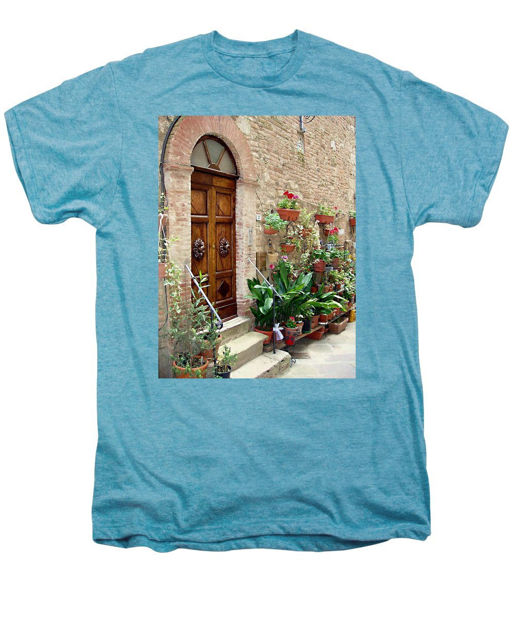 Front Door Men's Premium T-Shirt featuring the photograph Front Door by Ellen Henneke