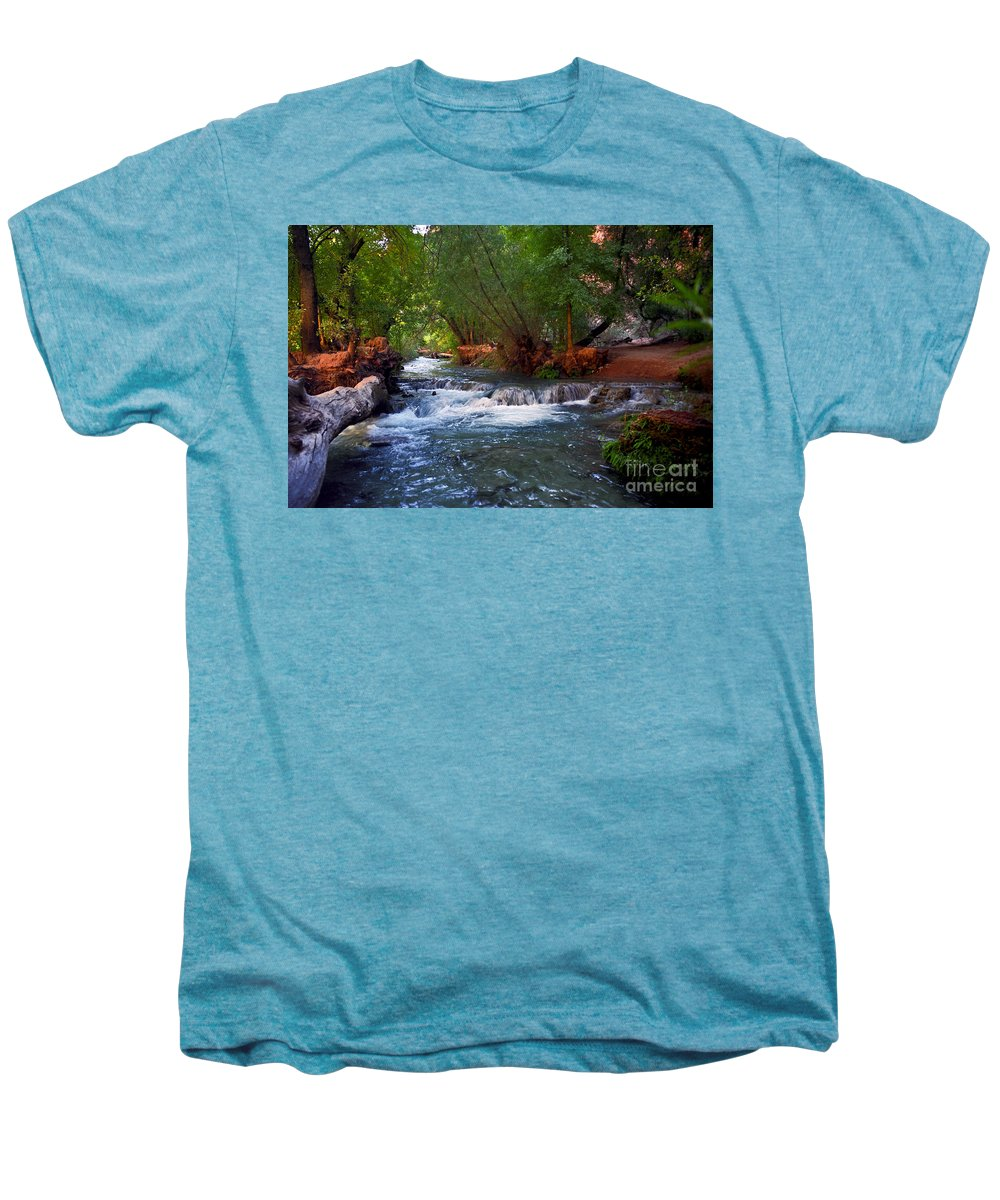 Arizona Men's Premium T-Shirt featuring the photograph Havasu Creek by Kathy McClure