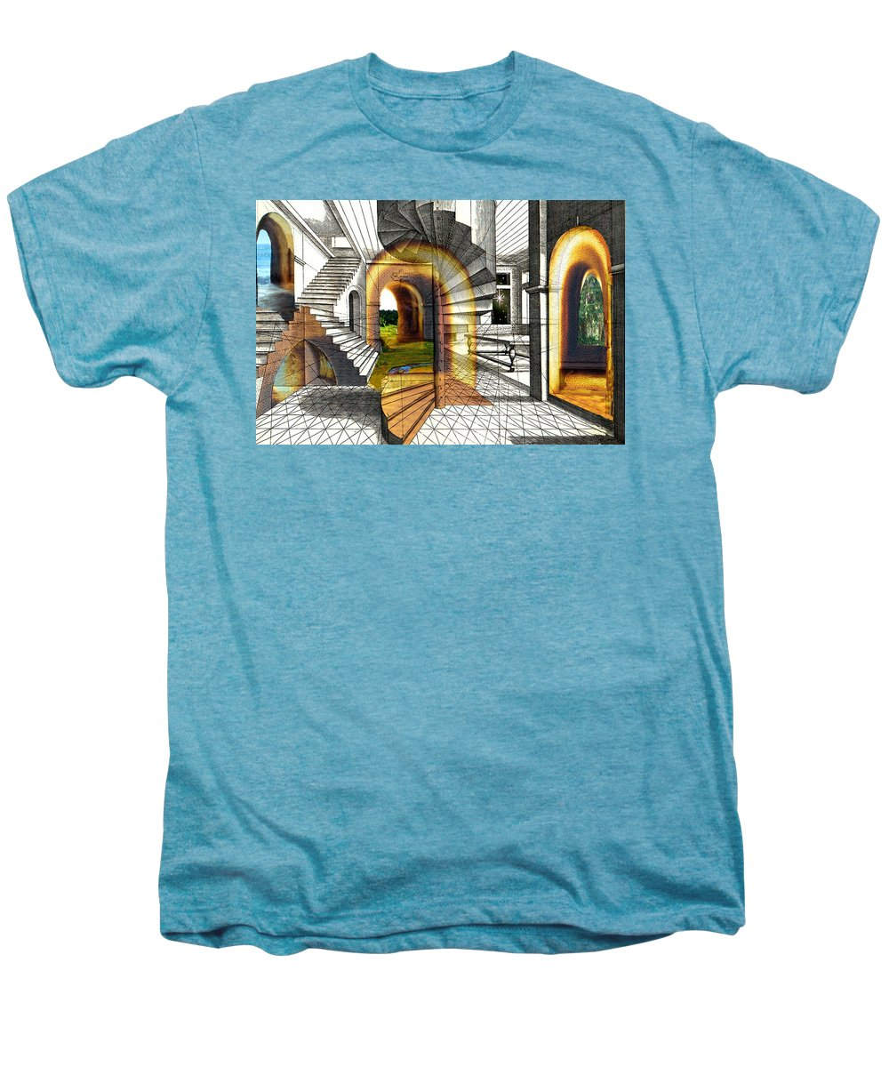 House Men's Premium T-Shirt featuring the digital art House Of Dreams by Lisa Yount