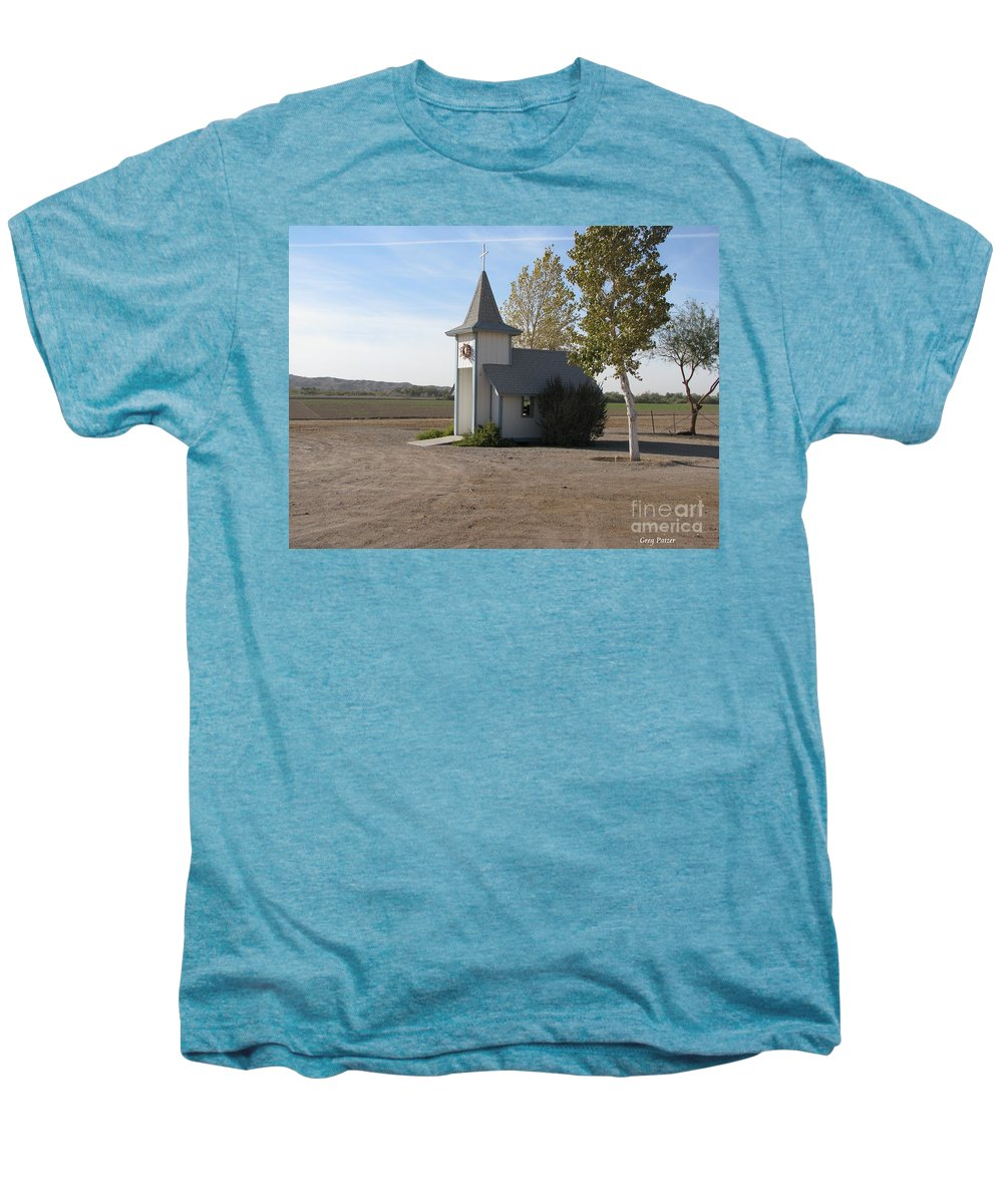 Patzer Men's Premium T-Shirt featuring the photograph House Of The Lord by Greg Patzer