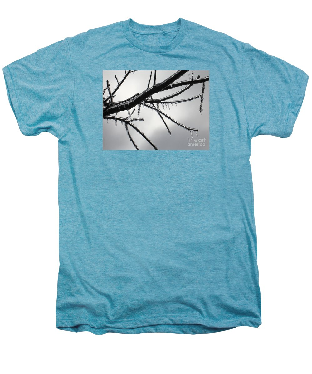 Winter Men's Premium T-Shirt featuring the photograph Iced Tree by Ann Horn
