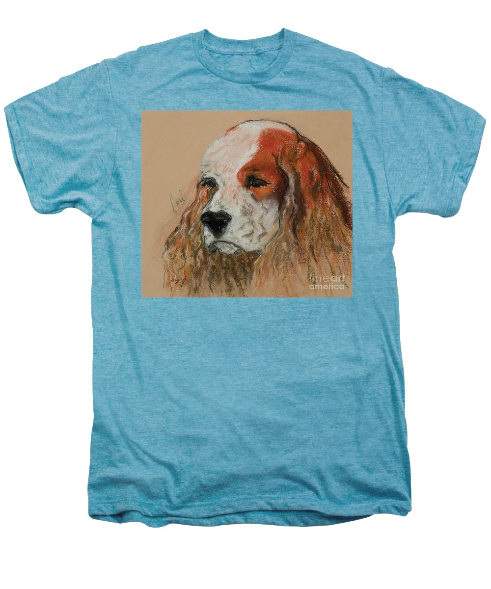 Dog Men's Premium T-Shirt featuring the pastel Idle Thoughts by Cori Solomon