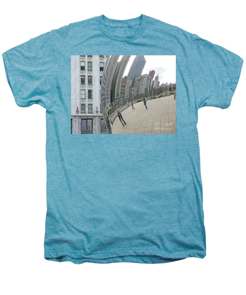 Chicago Men's Premium T-Shirt featuring the photograph Imaging Chicago by Ann Horn
