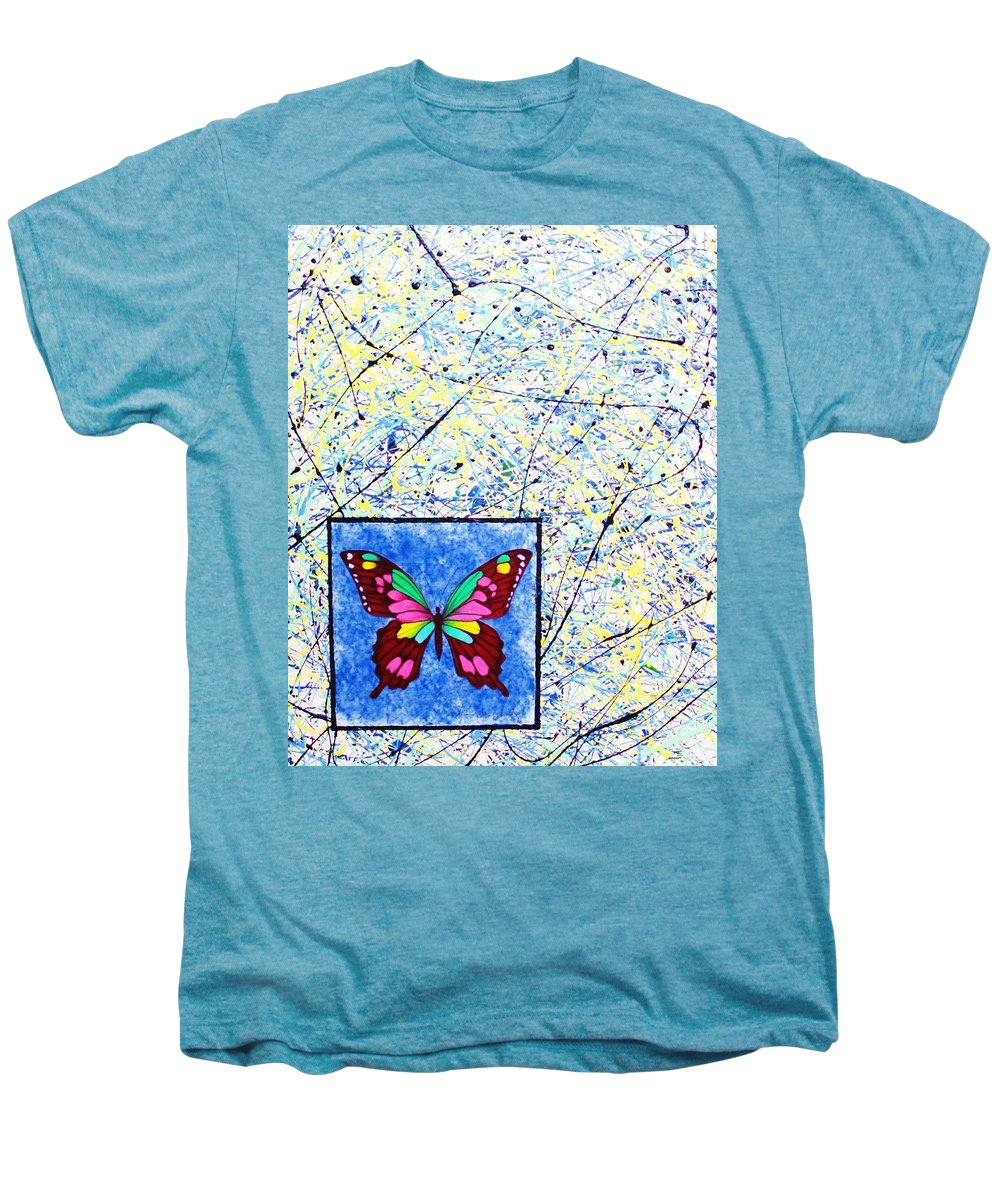 Abstract Men's Premium T-Shirt featuring the painting Imperfect I by Micah Guenther
