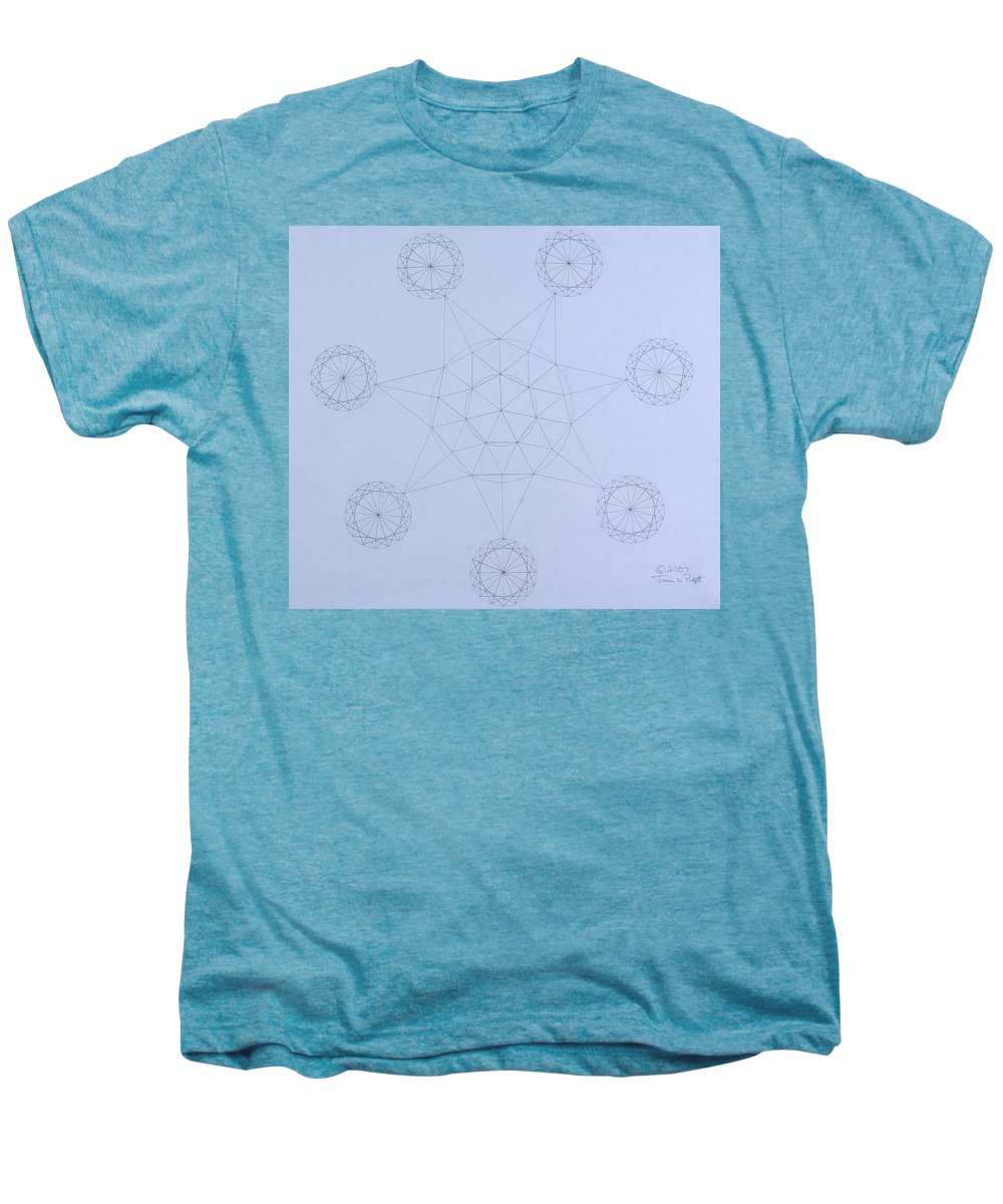 Jason Padgett Men's Premium T-Shirt featuring the drawing Impossible Parallels by Jason Padgett