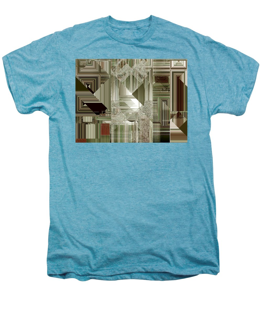 Abstract Men's Premium T-Shirt featuring the painting Indecision I by RC deWinter