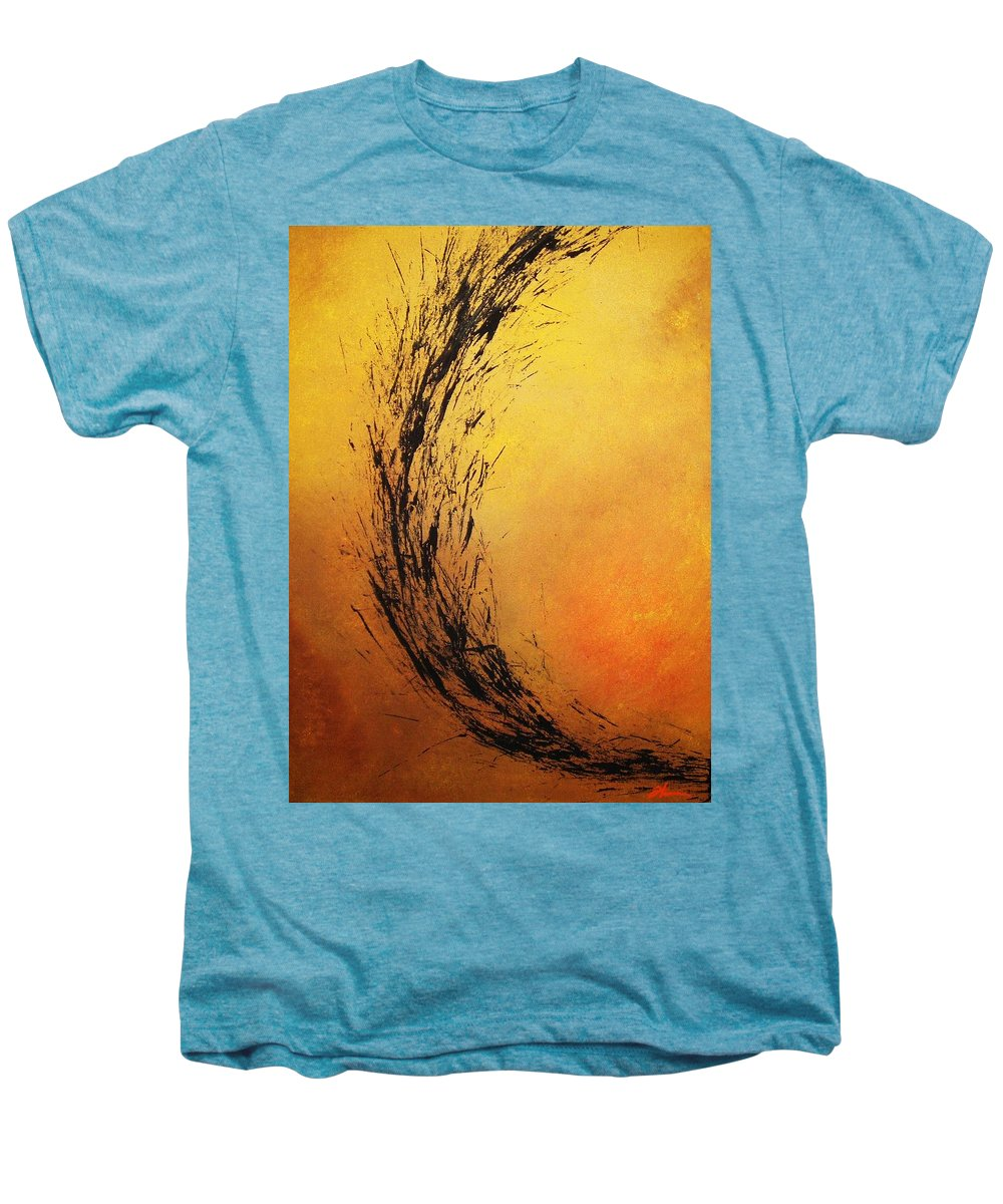 Abstract Men's Premium T-Shirt featuring the painting Instinct by Todd Hoover