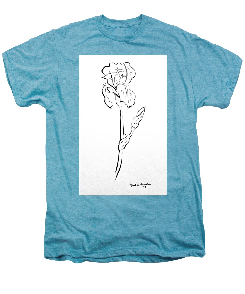Abstract Men's Premium T-Shirt featuring the drawing Iris II by Micah Guenther
