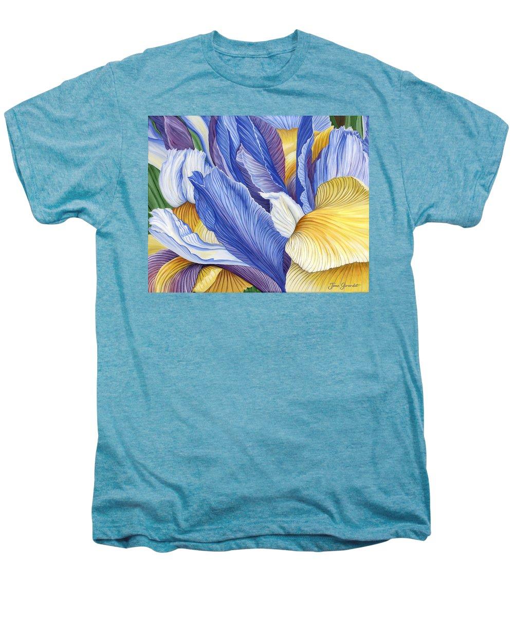 Iris Men's Premium T-Shirt featuring the painting Iris by Jane Girardot