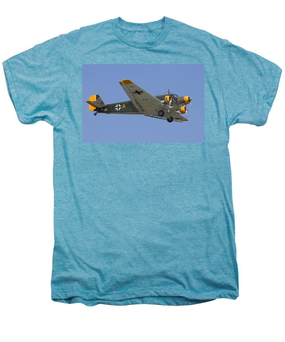 3scape Photos Men's Premium T-Shirt featuring the photograph Junkers Ju-52 by Adam Romanowicz