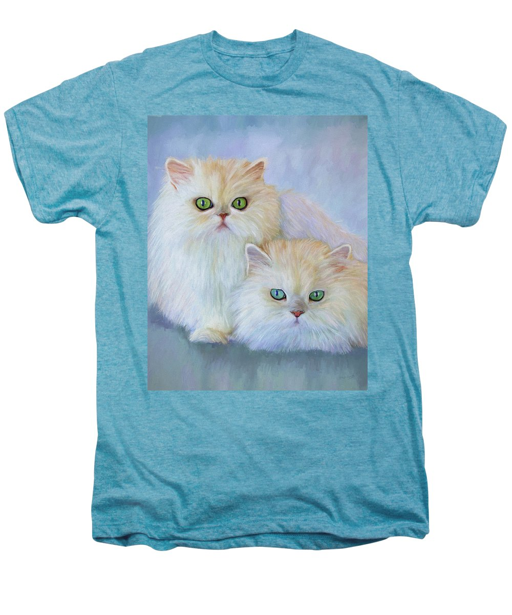 Cat Men's Premium T-Shirt featuring the painting Katrina And Bjorn by David Wagner