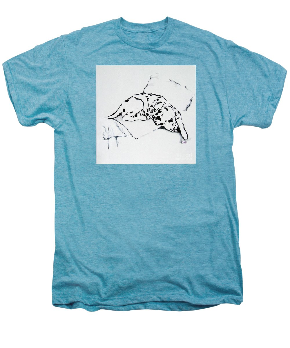 Dogs Men's Premium T-Shirt featuring the painting Lazy Day by Jacki McGovern