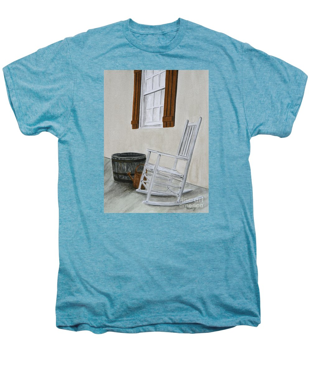 Americana Men's Premium T-Shirt featuring the painting Lazy Day by Regan J Smith