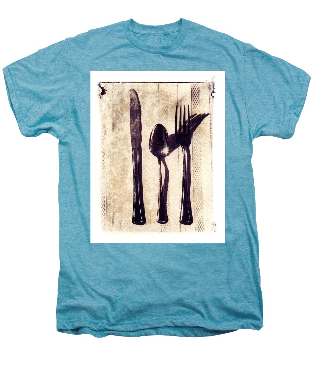 Forks Men's Premium T-Shirt featuring the photograph Lets Eat by Jane Linders