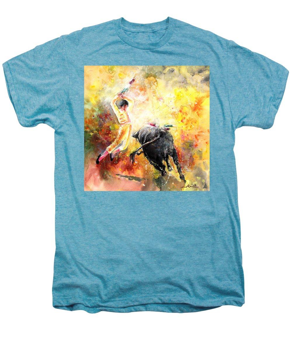 Animals Men's Premium T-Shirt featuring the painting Lightning Strikes by Miki De Goodaboom