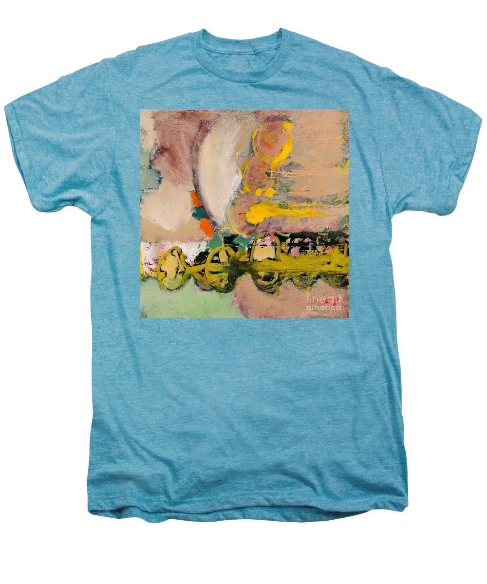 Landscape Men's Premium T-Shirt featuring the painting Locomotion by Allan P Friedlander
