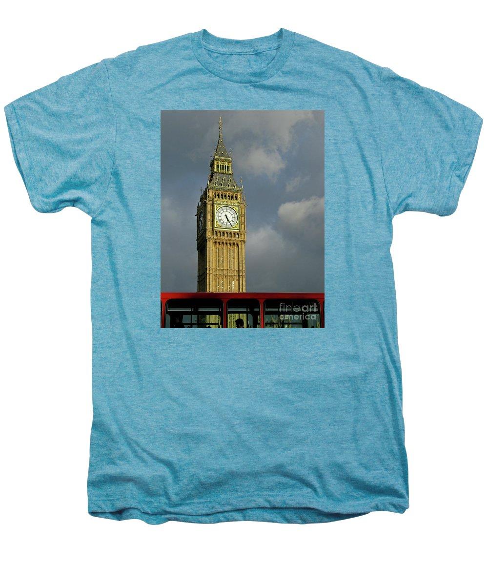 London Icons By Ann Horn Men's Premium T-Shirt featuring the photograph London Icons by Ann Horn