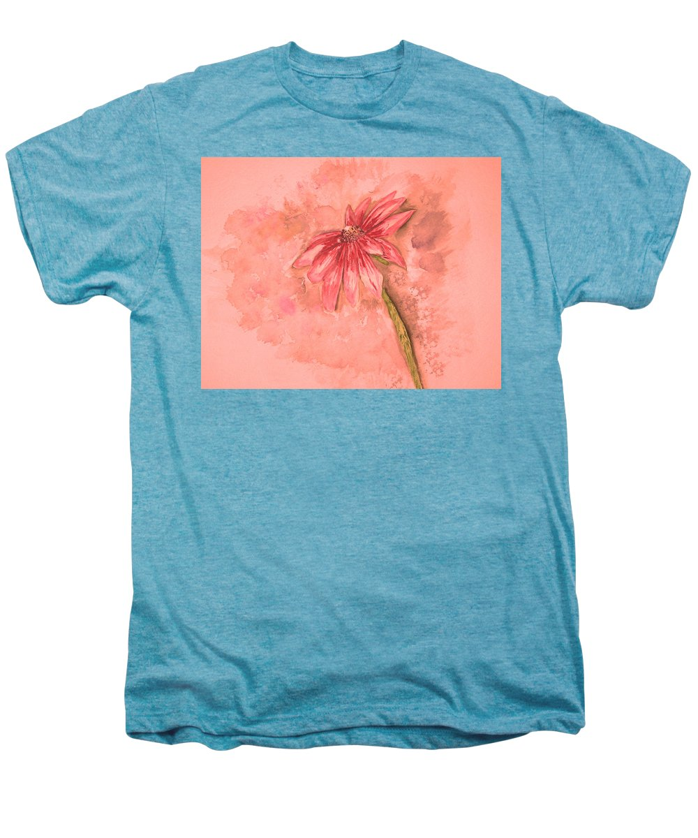 Watercolor Men's Premium T-Shirt featuring the painting Melancholoy by Crystal Hubbard