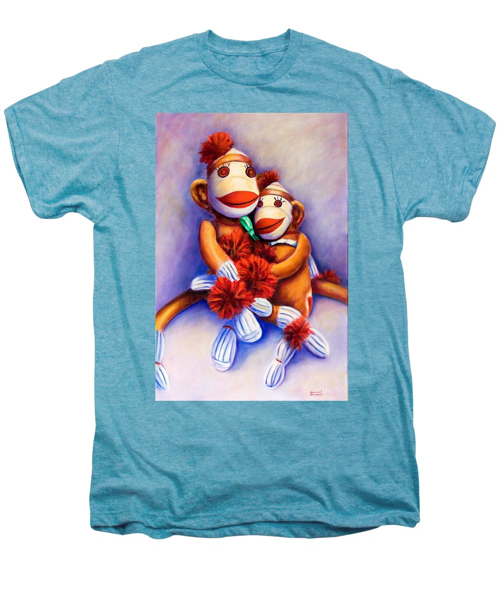 Children Men's Premium T-Shirt featuring the painting Mother And Child by Shannon Grissom