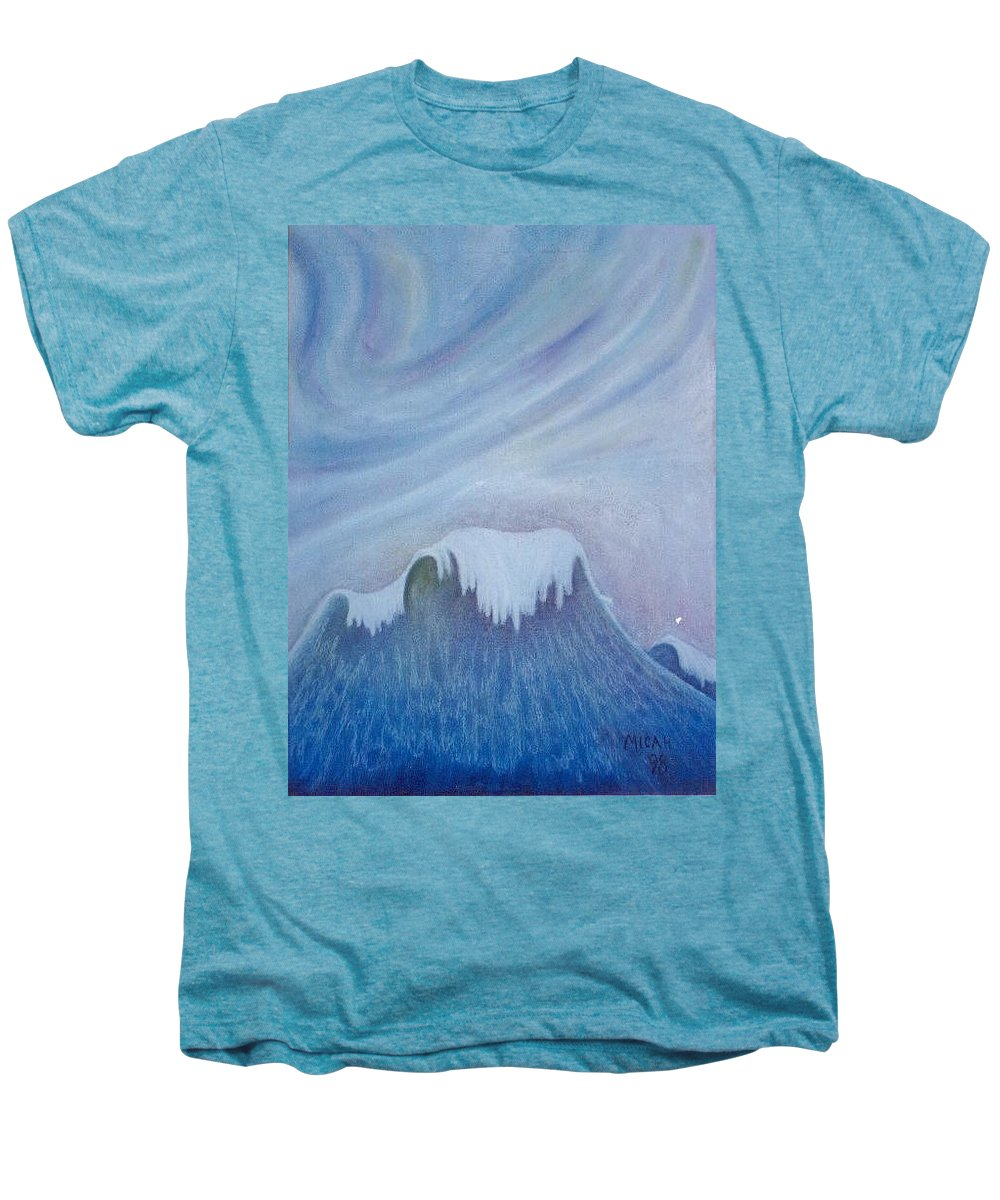 Ocean Men's Premium T-Shirt featuring the painting Ocean Wave by Micah Guenther