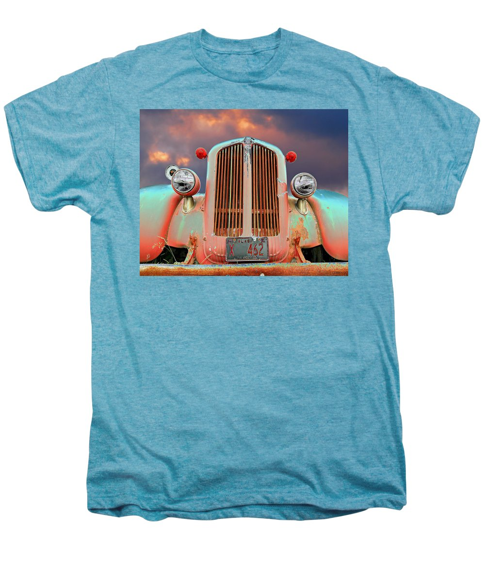 Truck Men's Premium T-Shirt featuring the photograph Old Firefighter by Ron Day