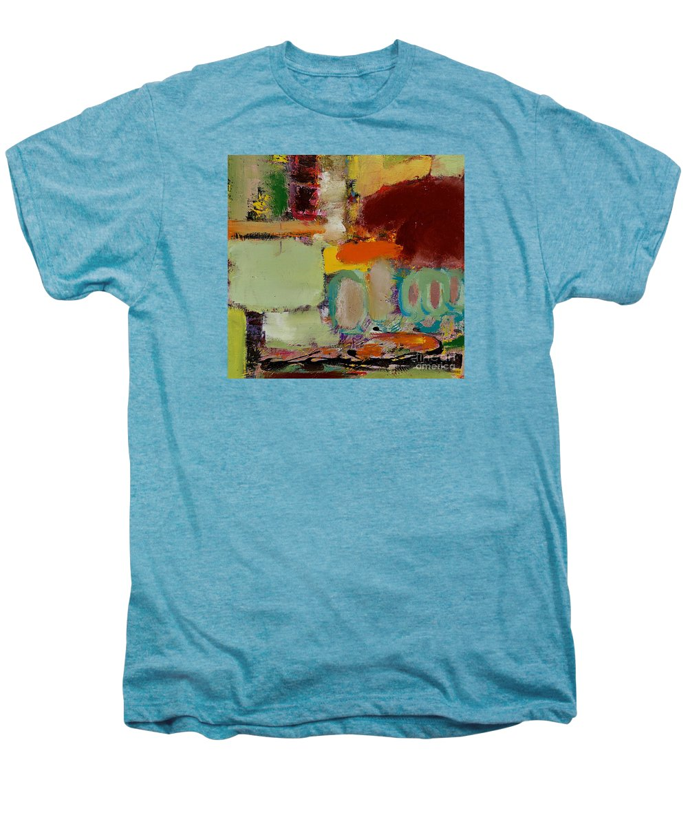 Landscape Men's Premium T-Shirt featuring the painting Over There by Allan P Friedlander