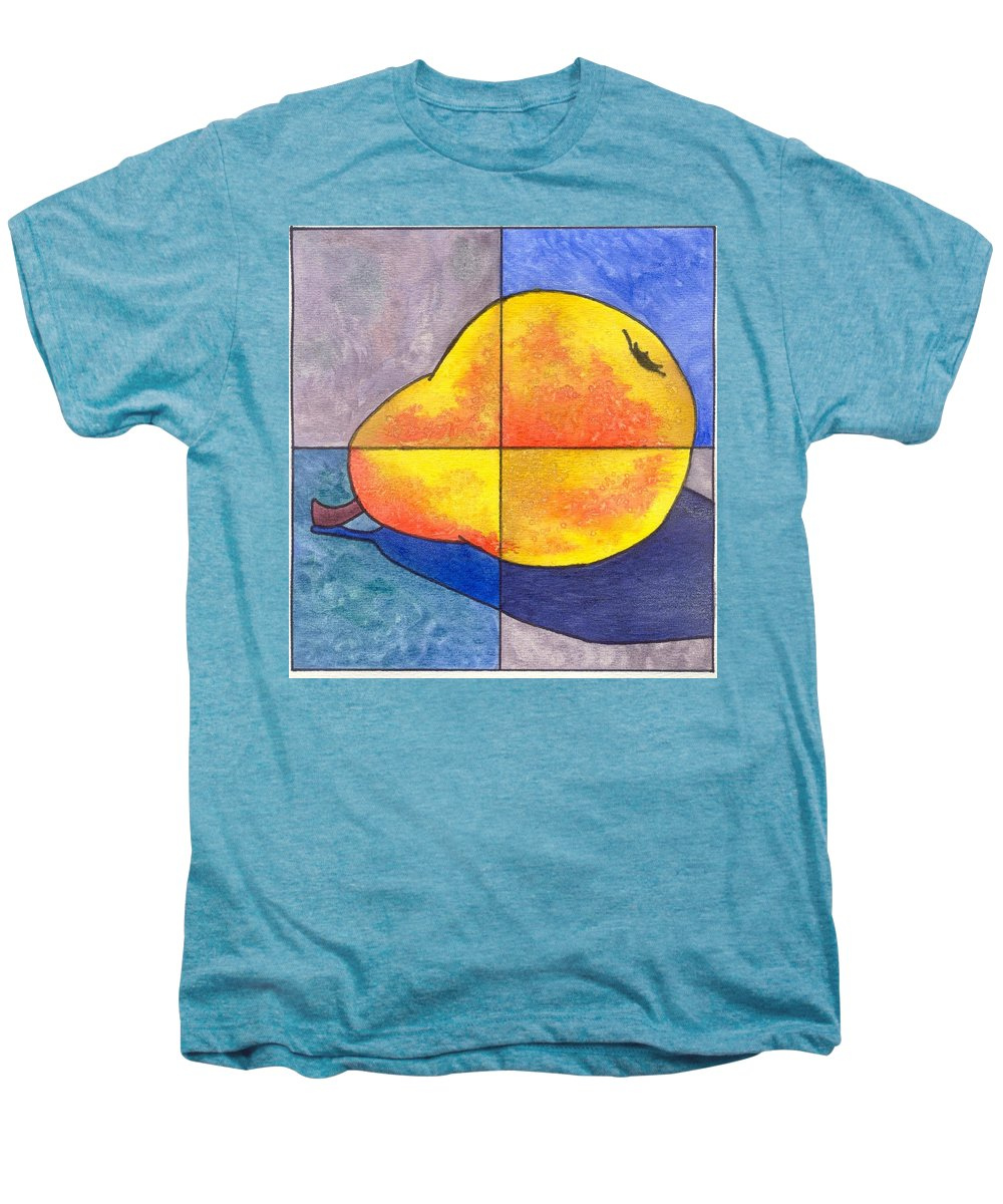 Pear Men's Premium T-Shirt featuring the painting Pear I by Micah Guenther
