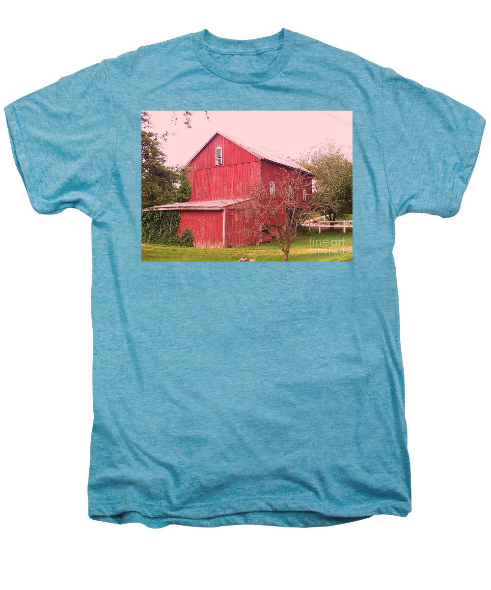 Pennsylvania Men's Premium T-Shirt featuring the photograph Pennsylvania Barn Cira 1700 by Eric Schiabor