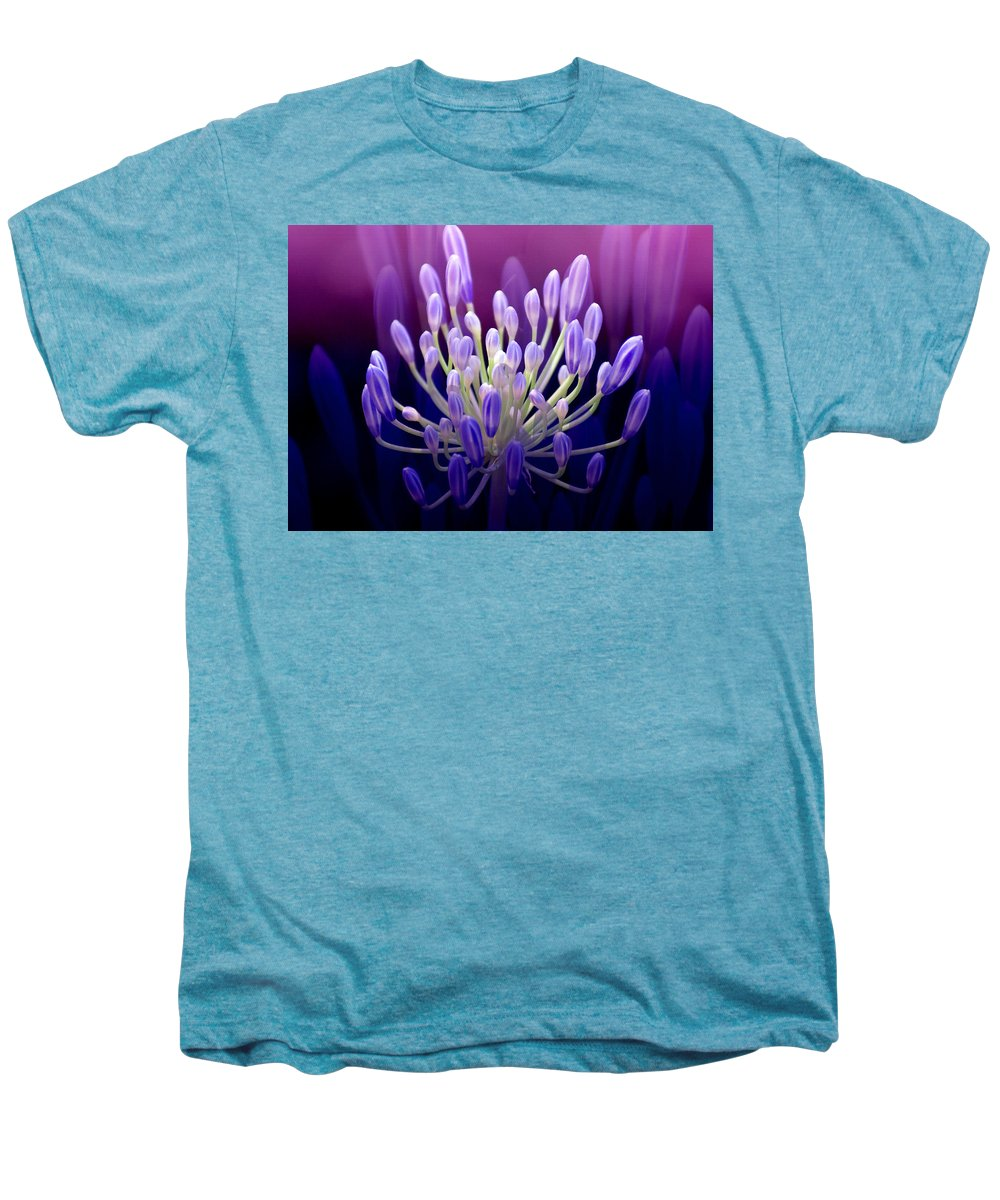 Agapanthus Men's Premium T-Shirt featuring the photograph Praise by Holly Kempe