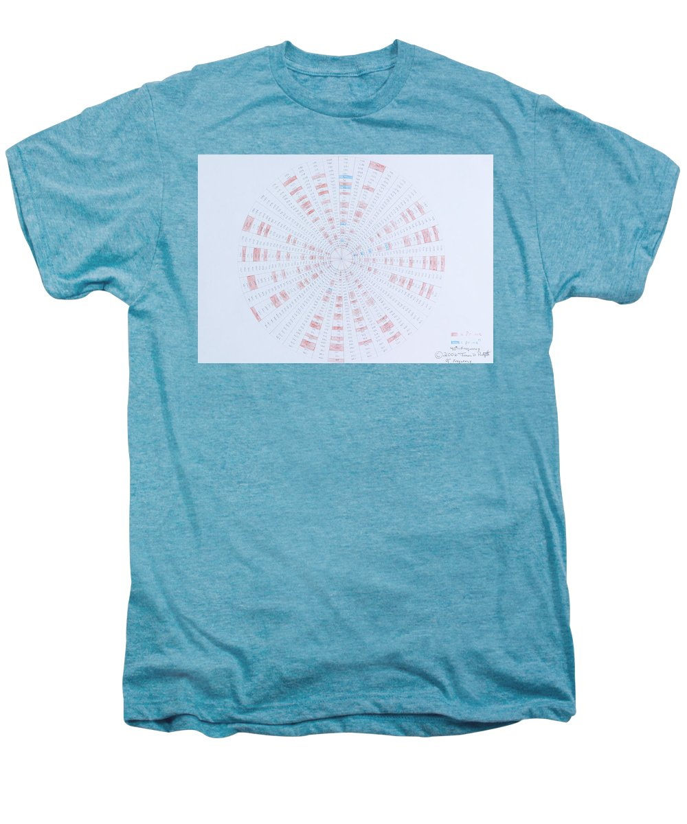 Prime Number Men's Premium T-Shirt featuring the drawing Prime Number Pattern P Mod 40 by Jason Padgett