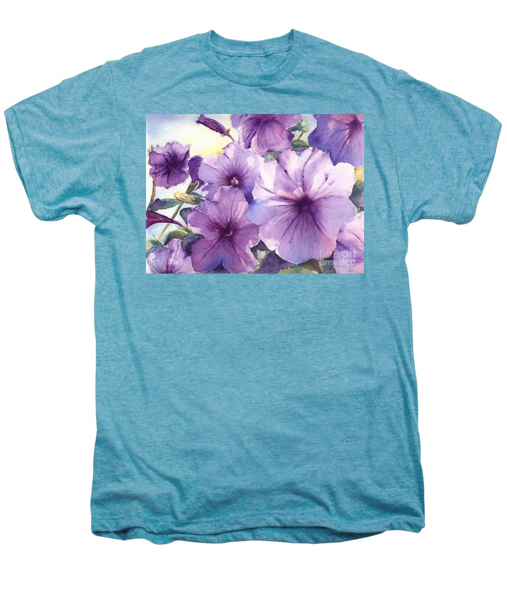 Purple Men's Premium T-Shirt featuring the painting Purple Profusion by Patricia Henderson