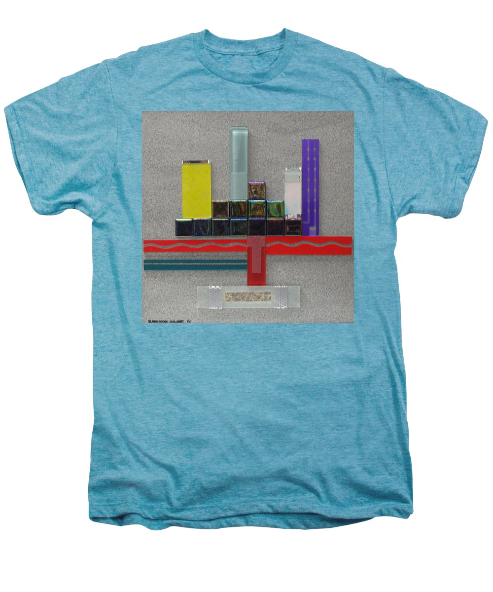 Assemblage Men's Premium T-Shirt featuring the relief Red River City by Elaine Booth-Kallweit