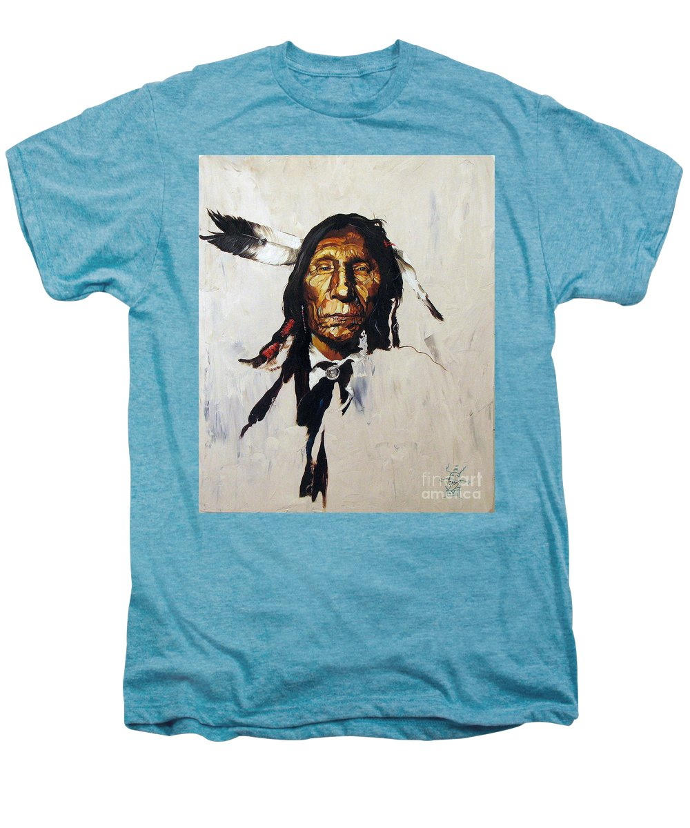 Southwest Art Men's Premium T-Shirt featuring the painting Remember by J W Baker
