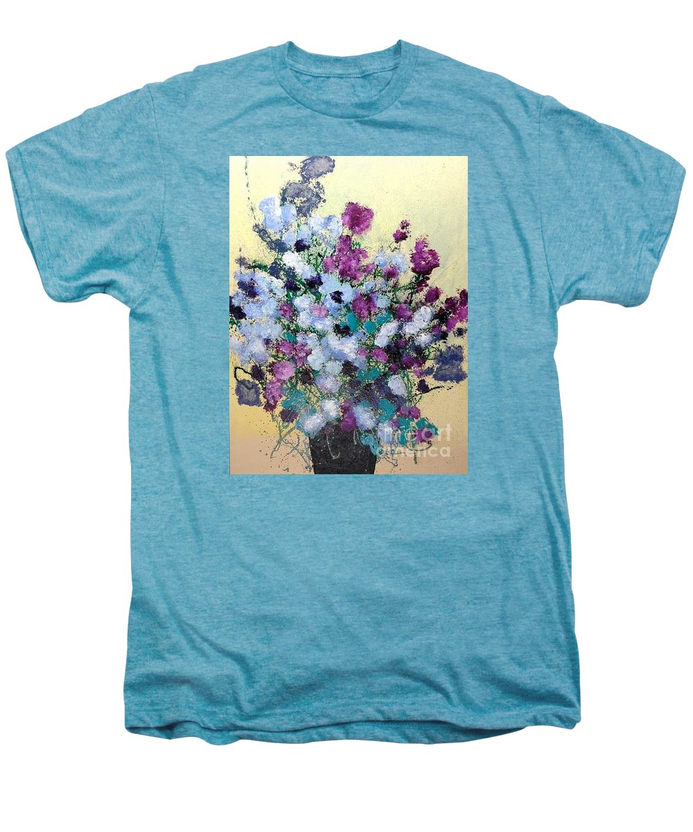 Landscape Men's Premium T-Shirt featuring the painting Remembering When by Allan P Friedlander