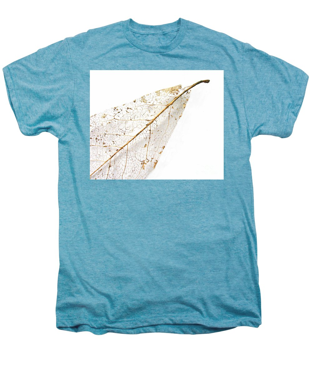 Leaf Men's Premium T-Shirt featuring the photograph Remnant Leaf by Ann Horn