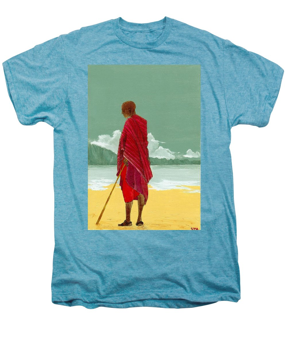 Figurative Painting Men's Premium T-Shirt featuring the painting Reverence by Edith Peterson-Watson