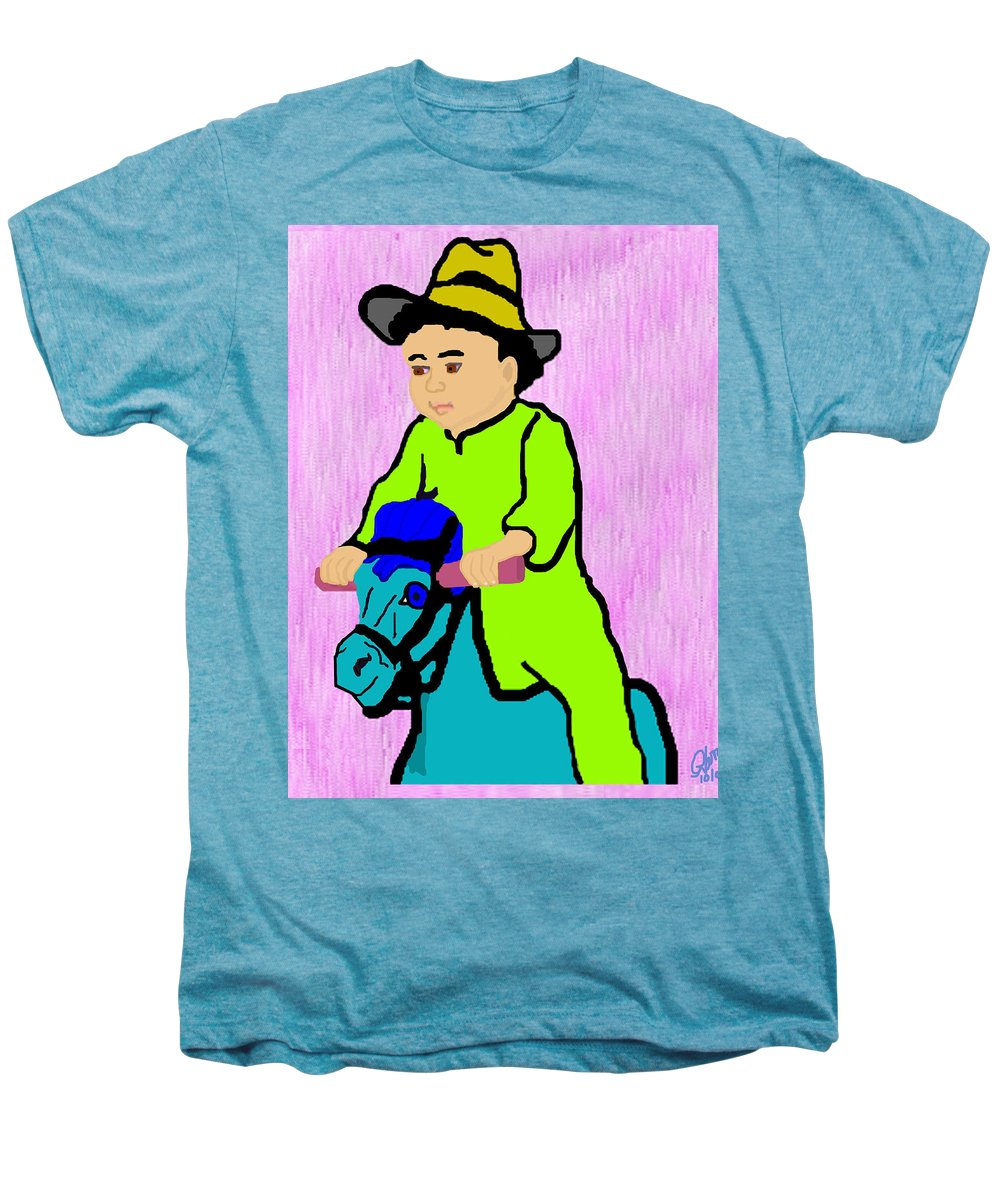 Toddler Men's Premium T-Shirt featuring the drawing Ride The Horsey by Pharris Art