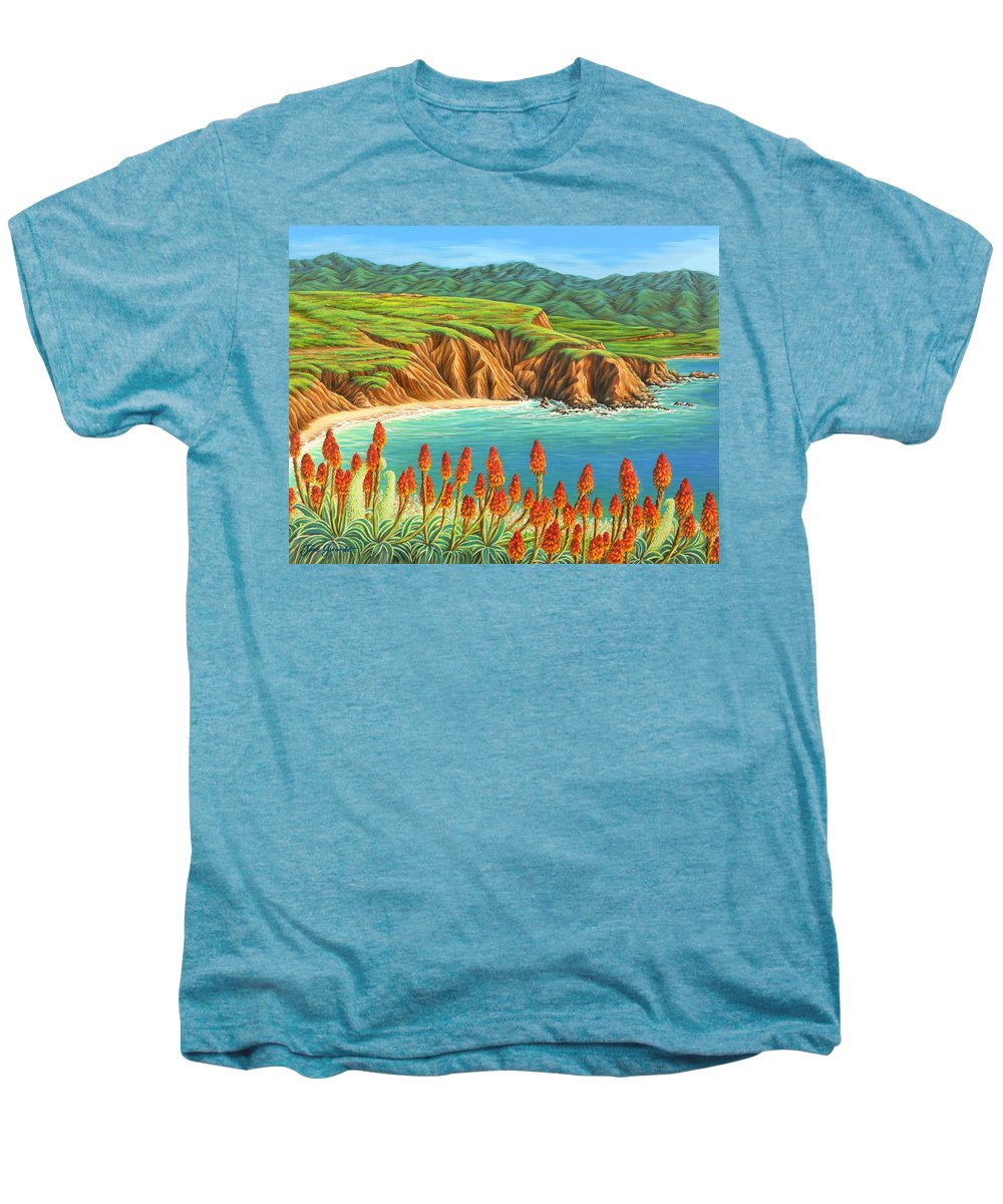 Ocean Men's Premium T-Shirt featuring the painting San Mateo Springtime by Jane Girardot