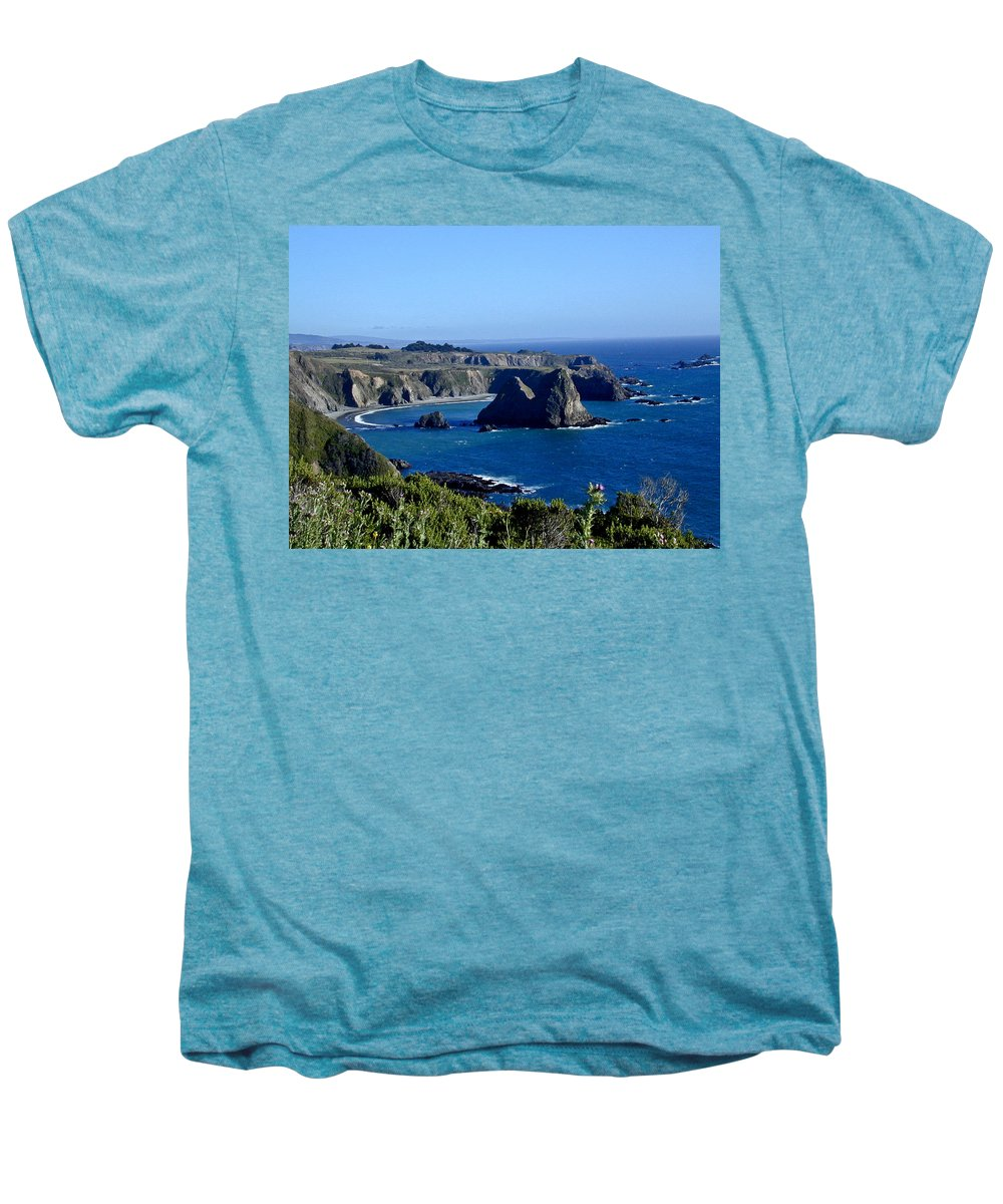 Sea Men's Premium T-Shirt featuring the photograph Sea Coast Of Northern California by Douglas Barnett