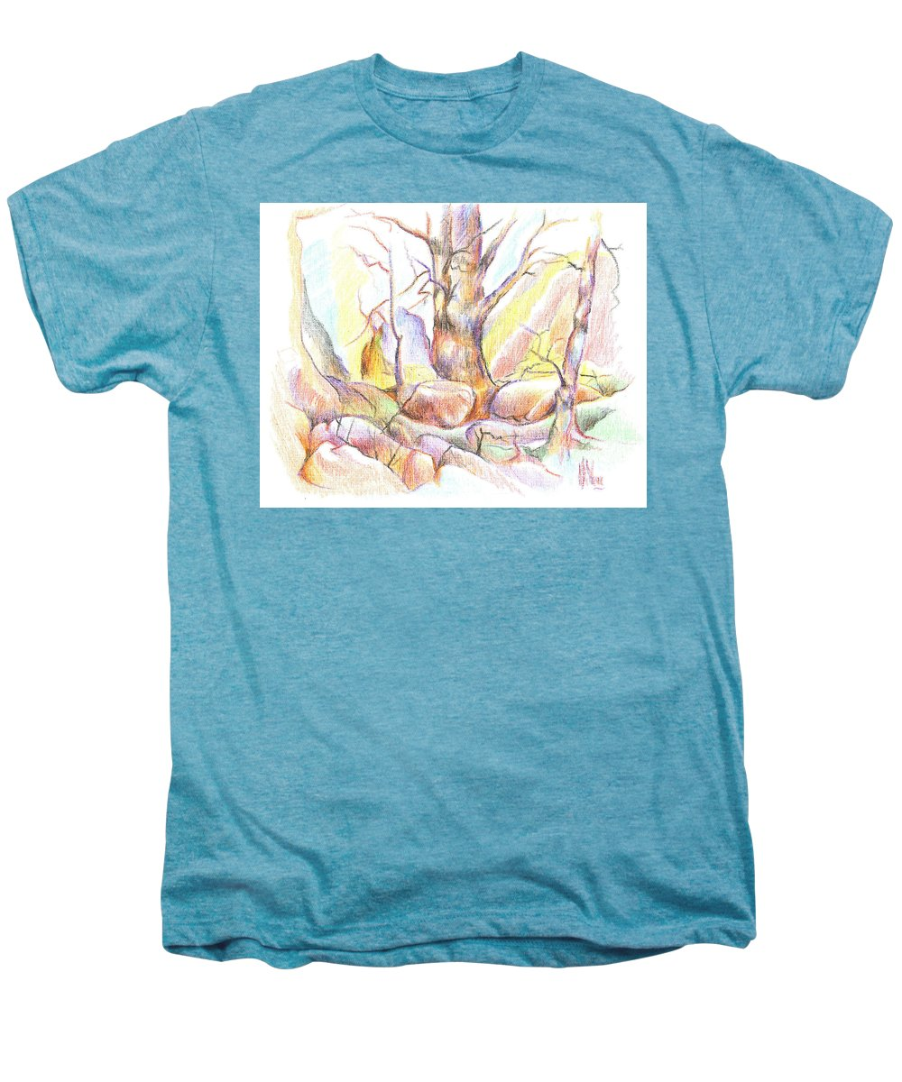 Softly Speaking Men's Premium T-Shirt featuring the painting Softly Speaking by Kip DeVore