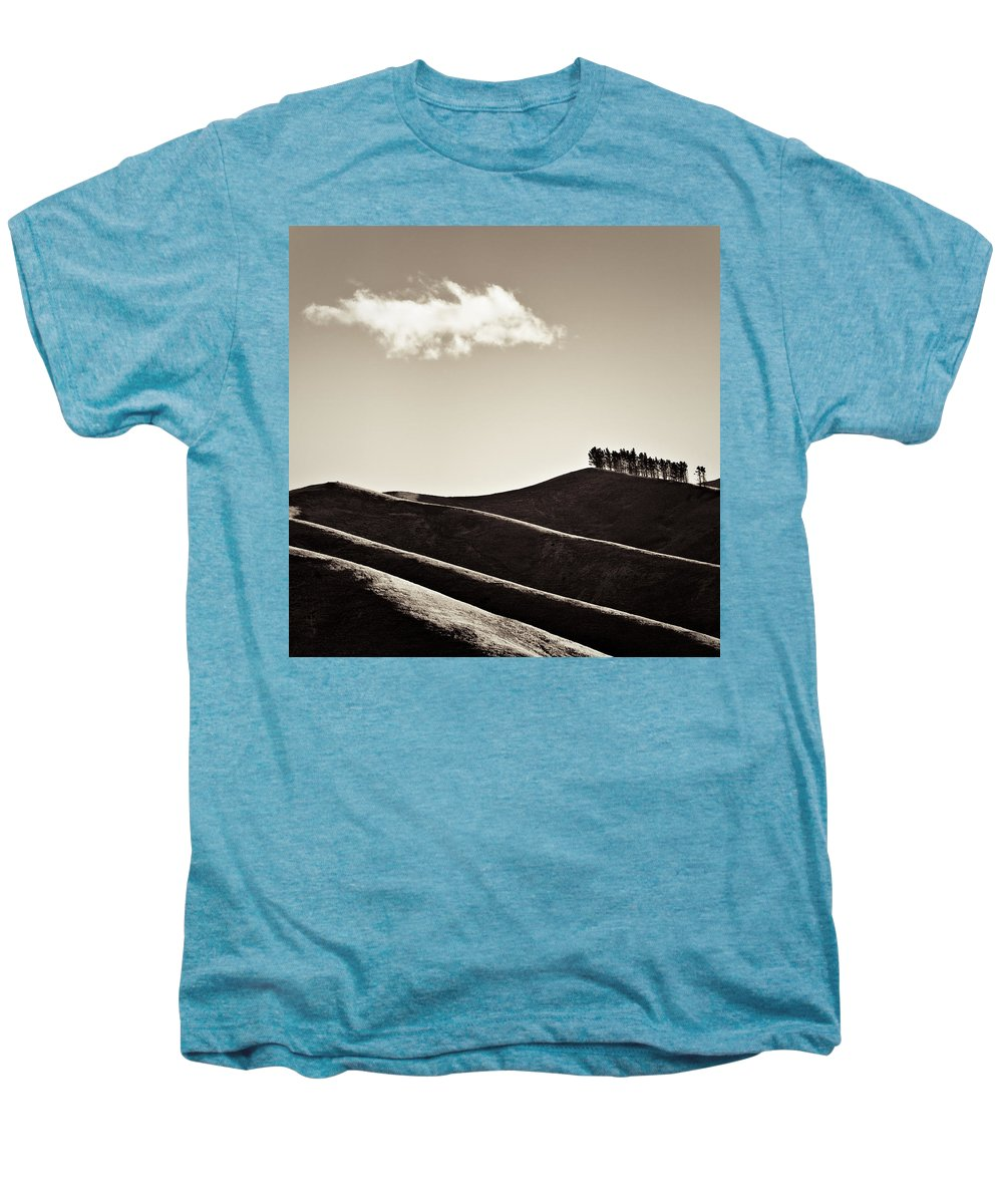 New Zealand Men's Premium T-Shirt featuring the photograph Solitary Cloud by Dave Bowman