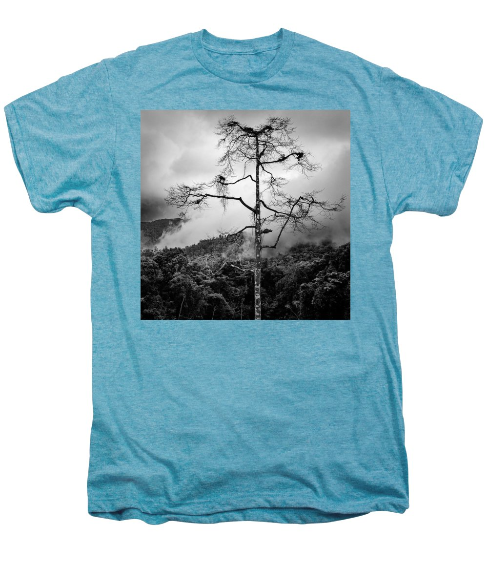 Cameron Highlands Men's Premium T-Shirt featuring the photograph Solitary Tree by Dave Bowman