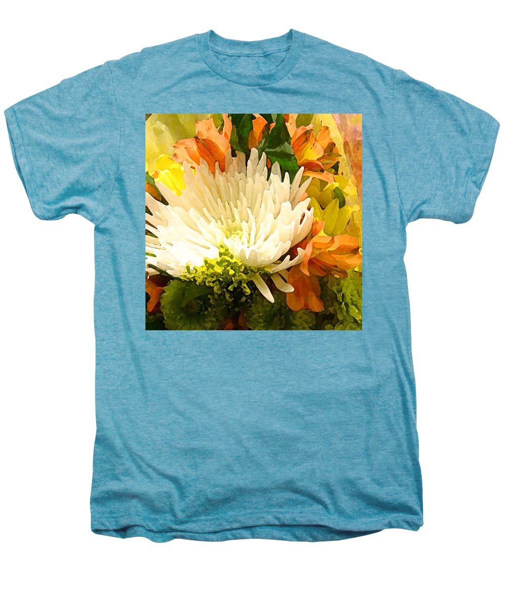Roses Men's Premium T-Shirt featuring the painting Spring Flower Burst by Amy Vangsgard
