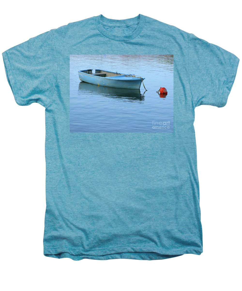 Rowboat Men's Premium T-Shirt featuring the photograph Still Afloat by Ann Horn