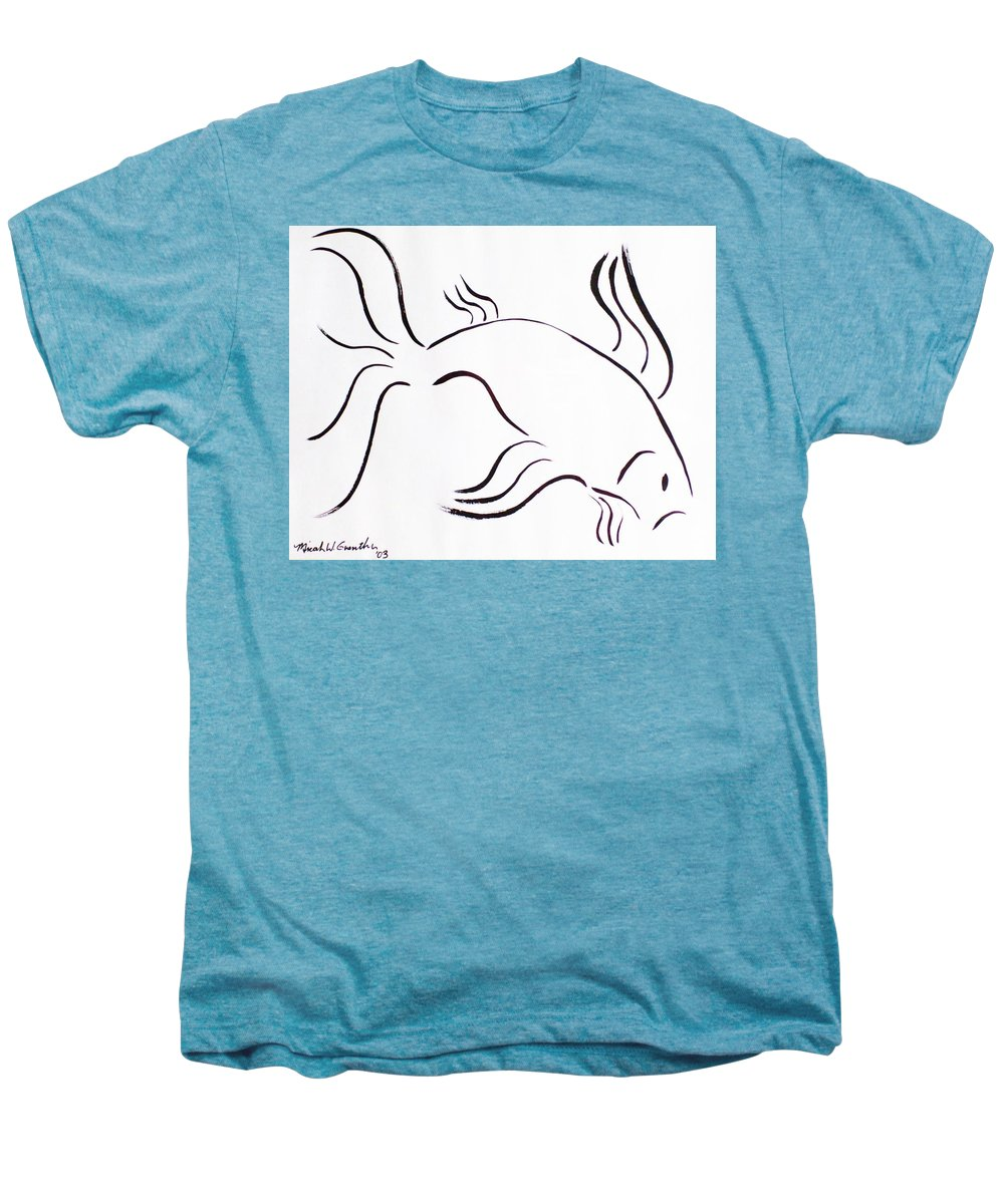 Abstract Men's Premium T-Shirt featuring the drawing Strength by Micah Guenther