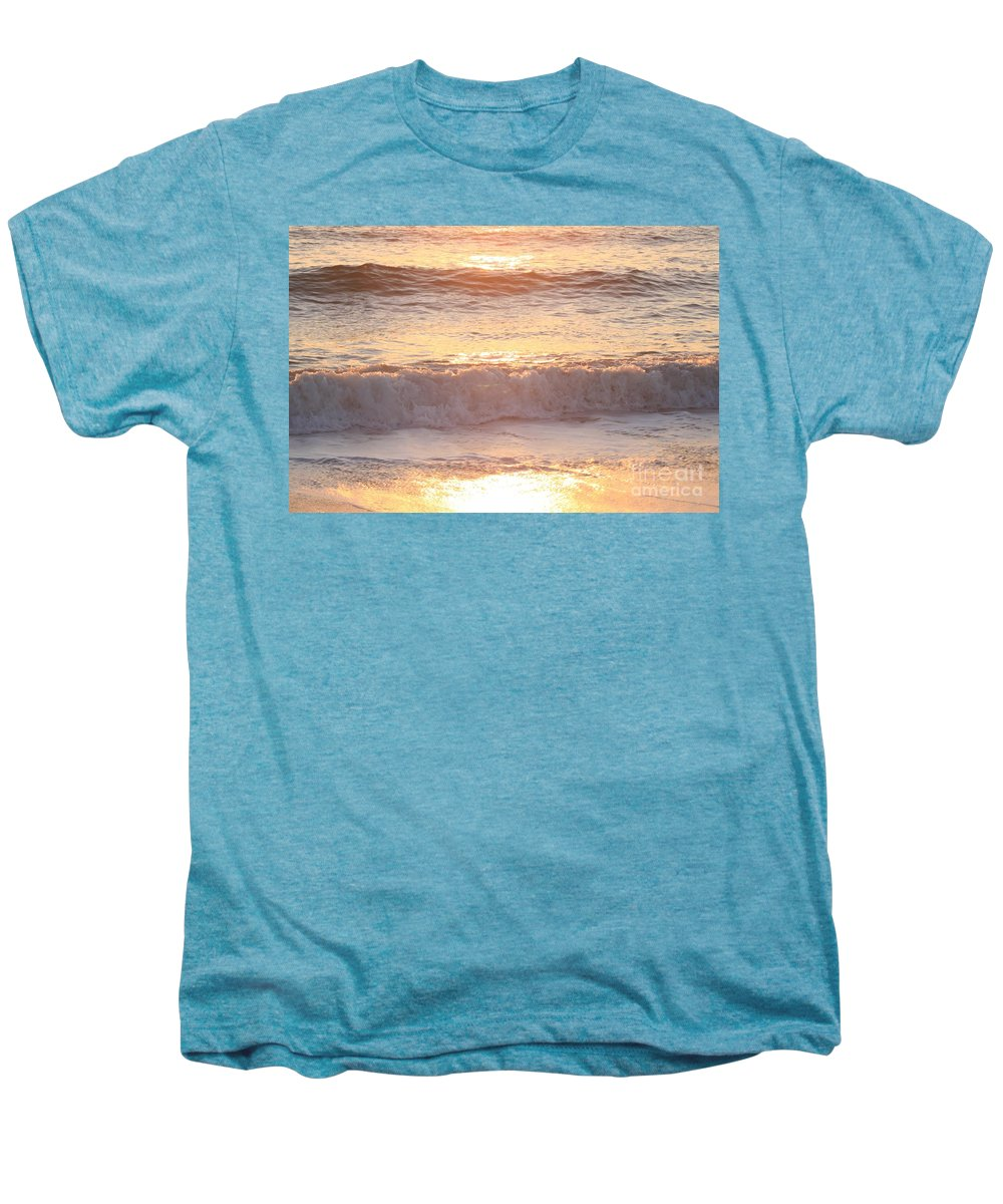 Waves Men's Premium T-Shirt featuring the photograph Sunrise Waves by Nadine Rippelmeyer